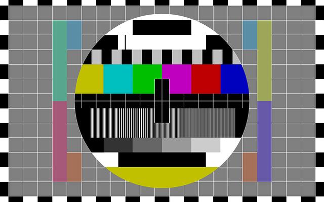 testovací vzorek pro tv